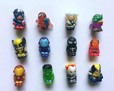 Lots 12pcs The Avengers Thor Hulk Spiderman Iron Man X-Men Mini Figure B