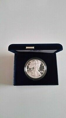 2010 W  US Mint American Eagle One Ounce Silver Proof Coin / Proof Silver Dollar