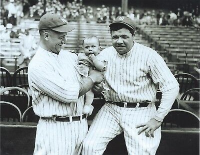 """Lou Gehrig Trout- New York Yankee Baseball 1927 Fly Fishing 8/"""" x 10/"""" Photo"""