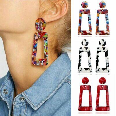 Geometric Acrylic Long Dangle Drop Statement Earrings Women Fashion Jewelry Gift