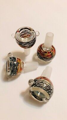 New 14mm Male Glass slide Bowl for Hookah pipe Bong Smoking water bubbler pipes