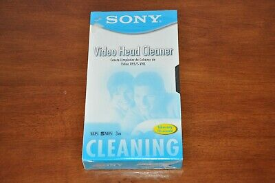 Factory Sealed NEW Sony® VHS / S-VHS VCR Video Head Cleaner T-6CLDL