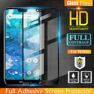 GLASS PRO+ Full Cover Tempered Glass Screen Protector For Nokia 2.1 3.1 6.1 7.1