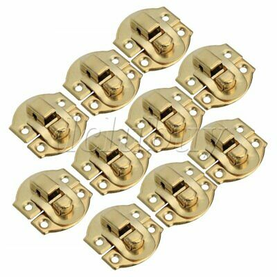 10pcs Yellow Metal Padlock Hasp Jewelry Box Buckle Shackle Lock 21 x 20mm