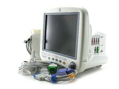 GE Dash 4000 Patient Monitor Vital Signs with new ECG, NiBP and SpO2 leads