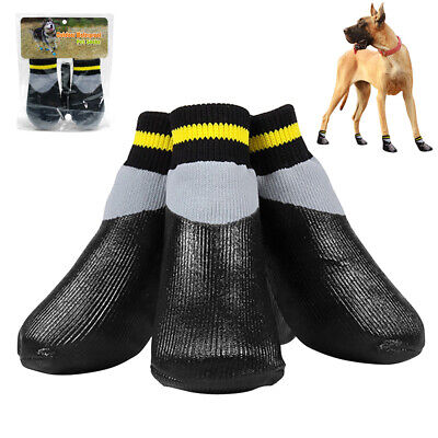 Waterproof Dog Socks Non-Slip Pet Rain Snow Boot Shoes for Injured Paws All Size