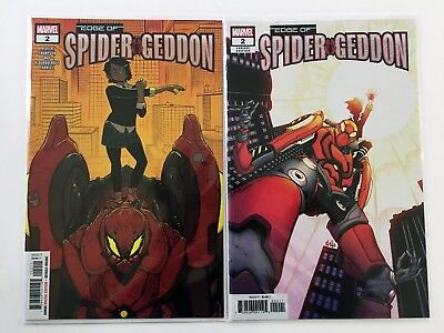 Edge Of Spider-Geddon #2 Variant Cover Set 1St Mech Venom - High Grade See Scans