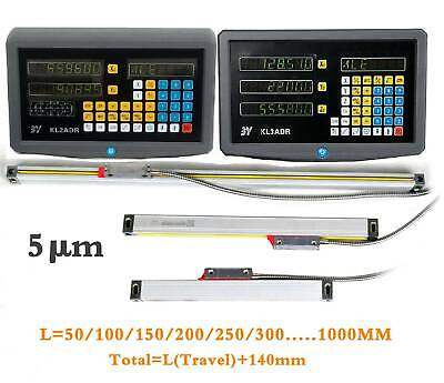 2 Axis/3 Axis Digital Readout Linear Glass Scale TTL DRO Display Milling Lathe