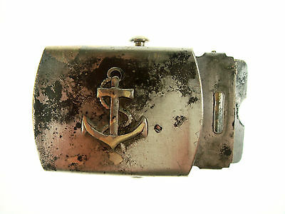 Solid Brass Made in USA Belt Buckle Sailor Used Good Condition  Nr 5231