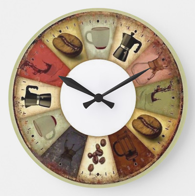 Jewelry & Watches Watches, Parts & Accessories Orologio Da Parete Fun Cucina Decorazione Caffè Espresso Acrylglas