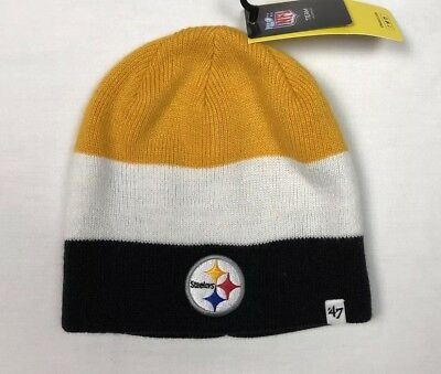 f4ac3b4d 47 BRAND PITTSBURGH Steelers Kids Youth Black/Yellow/White Striped Beanie