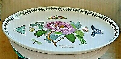 "Portmeirion Botanic Garden ~ Large Oval Dinner Plate ~ 12.75"" ~ Shrubby Peony"