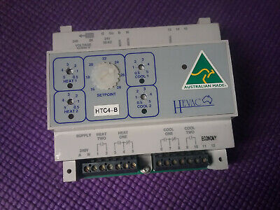 HEVAC TEMPERATURE CONTROLLER 2 Heat 2 COOL On/Off Economy Cycle Relay Output