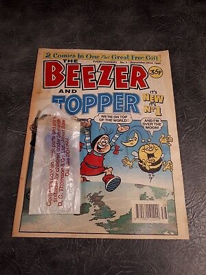 No.1 BEEZER AND TOPPER COMIC  #1  *** WITH FREE GIFT***