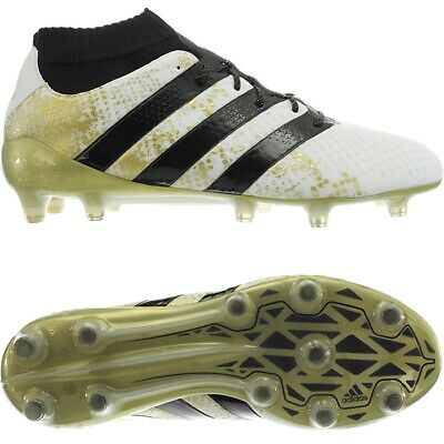 new product e63e4 a5b42 Adidas ACE 16.1 Primeknit FG white black gold men s football shoes boots NEW