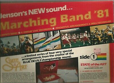 SET OF 3 Jensen / Hal Leonard MARCHING / CONCERT BAND double LPs circa 1981