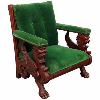 Renaissance Style Winged Griffin Chair Attributed to RJ Horner