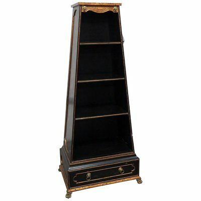 Fantastic Chinese Chinoiserie Paint Decorated Italian Etagere Book Shelf Cabinet