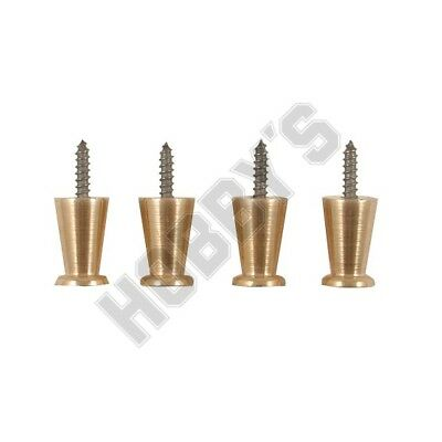 BRASS FEET (4) 9.5 mm dia x 14 mm  SUITABLE FOR CLOCK LS28