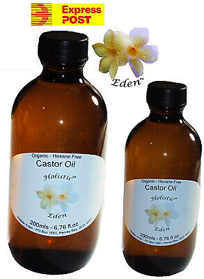 Castor Oil 100% Pure Cold Pressed ORGANIC Premium Grade Hexane Free Glass Bottle