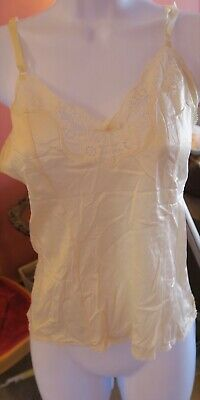 Wise Buys Maidenform Beige Tan Size 32 Nylon Lace Camisole Slip Top