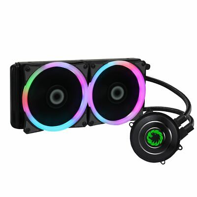 Game Max Iceberg 240mm CPU Water Liquid Cooling System Kit with 2x LED PWM Fans