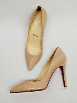 67e51c0f014 CHRISTIAN LOUBOUTIN PIGALLE Follies Nude Leather Pumps Heel Shoe Size 36  1/2 NEW