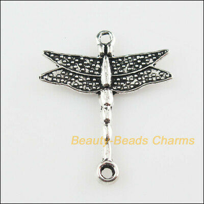 12 New Pendants Connectors Animal Dragonfly Tibetan Silver Tone Charms 23x27.5mm