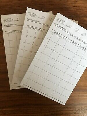 Choice 1 Part White Waiter / Waitress Order Pad - 3 Books=300 Checks