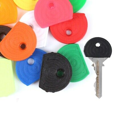 10 x COLOURED KEY CAPS Top Cover Tag ID Marker Keyring BRIGHT/NEON Choose Colour