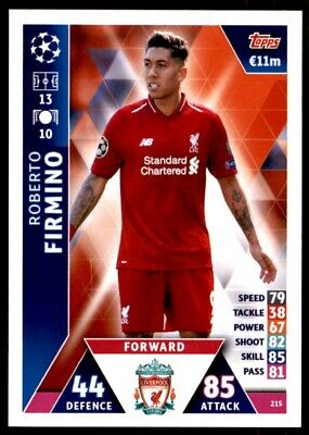 Match Attax Champions League 2018/19 - Roberto Firmino Liverpool FC No. 215