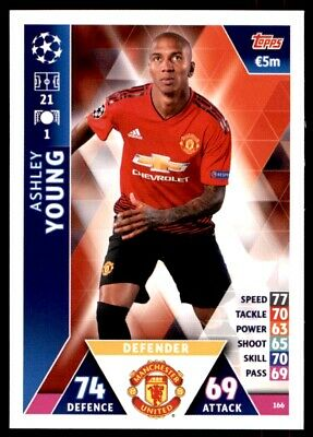 Match Attax Champions League 2018/19 - Ashley Young Manchester United FC No. 166