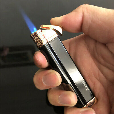 Jet Torch Blue Flame Butane Viewable Cigar Cigarette Lighter AOMAI-5301 Black