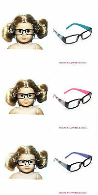 Square Stripe Eye Glasses You Choose 18 in Doll Clothes For American Girl Dolls
