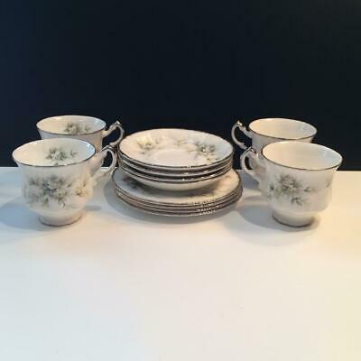 Paragon First Love 12Pc Lot: 4 Trios Bread & Butter Plate + Cup & Saucer Ch5170