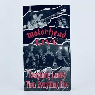 MOTORHEAD LIVE: Everything Louder Than Everything Else - VHS 1991 - NEAR MINT!!!