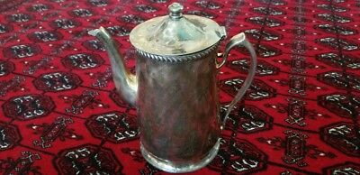 "Antique Grand Silver Co. Wear Brite Coffee-Tea Pot, Nickle Silver, 9""Tall ,"