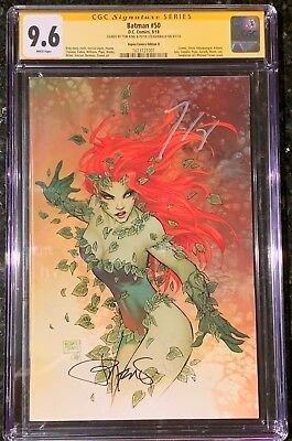 Batman 50 Turner Sdcc 2018 Variant Cgc 9.8 Ss Signed X2 Tom King Pete Poison Ivy