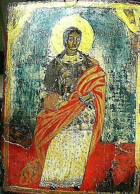 ANTIQUE very old ancient Orthodox icon of St. martyr Marina