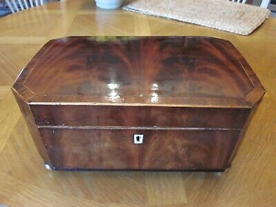 Georgian mahogany Jewelry or Sewing Box w. Mirror 1780-1800