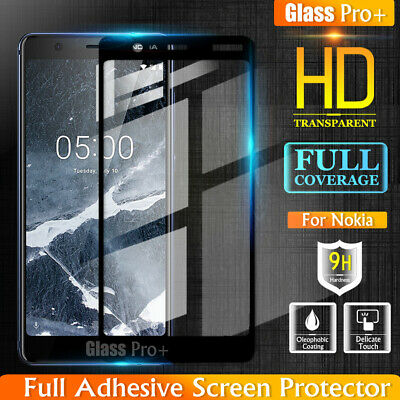 Glass Pro+ Full Cover Tempered Glass Screen Protector For Nokia 5.1 7 Plus 8 8.1