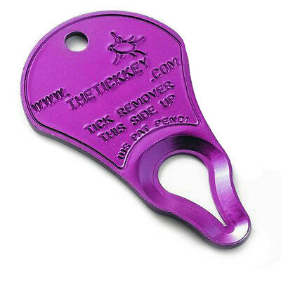 The Tick Key Easy To Use Woodtick & Deertick Removal Tool Device Pets & People