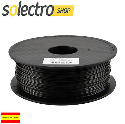ABS Filamento 1.75mm 1kg Impresion negro Impresora 3D color Black I0238