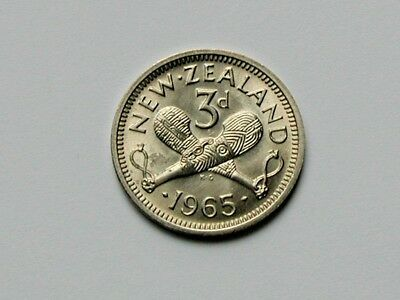 1965 NEW ZEALAND Elizabeth II 50 Cent &1951 6 Pence coin,(+