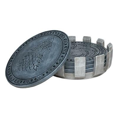GAME OF THRONES Faux Stone Coasters Set Houses Westeros Collectible Gift Fan