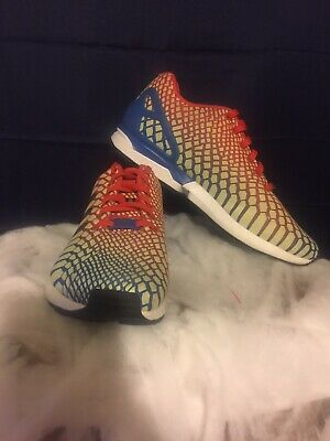 36c90a63d Adidas ZX FLUX Xeno Mens Reflective Glow Running Shoes  AQ4533 US Size 10