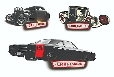 CRAFTSMAN TOOLS STICKER SET of 3 GLOSSY DECALS TOOL BOX SEXY PINUP GIRLS USA