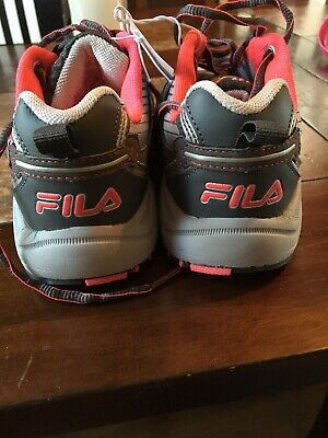36a34297aed6 FILA Women s Headway 6.5 Silver   Dark Grey   Pink Trail Running Snekaers  6.5