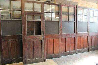 Six Large Old School Room Dividers Circa 1880 Restaurant Club Bar Salvage