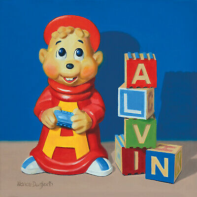 DANFORTH Alvin 8x8 still life realistic oil painting, retro toys series